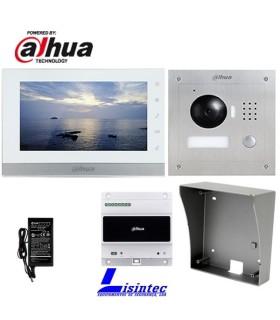 Kit de Portier vidéo IP, 2 fils, composé de VTO2000A-2 et VTH1550CHW-2