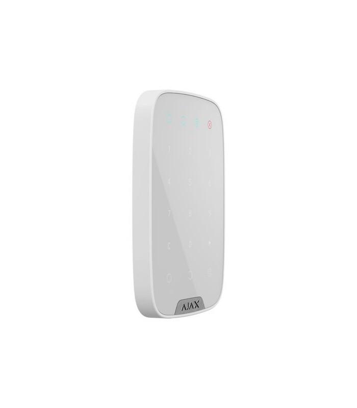 Teclado wireless bidirecional branco para alarmes Ajax