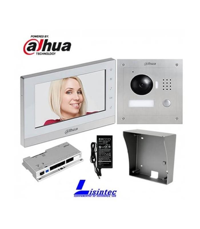 Video Doorphone Kit Dahua, consisting of VTO2000A + VTH1550CH + VTOB108-SS