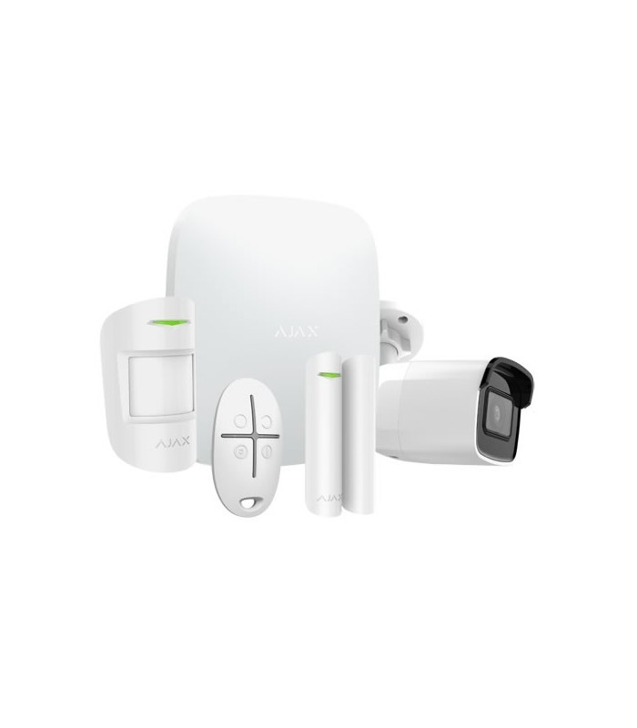 Kit de alarme wireless Ajax AJ-HUBKIT-W com camara IP WIFI
