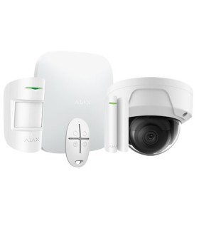 Ajax wireless alarm kit AJ-HUBKIT-W with WIFI IP Dome Camera