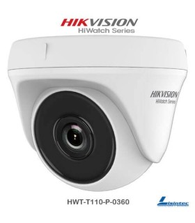 Camara dome Hikvision 720p ECO Lente 3.6 mm - HWT-T110-P-0360