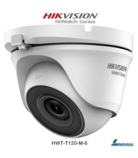 Câmara dome Hikvision 1080p, lente 6 mm - HWT-T120-M-6
