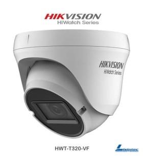 Câmara dome Hikvision 1080p,  4 em 1, lente varifocal - HWT-T320-VF
