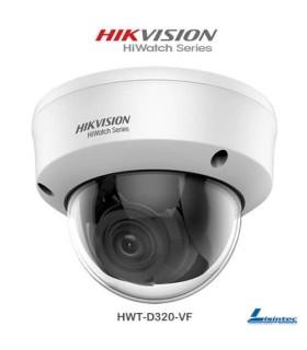Cámara Domo Hikvision 1080p 4 en 1 con lente varifocal - HWT-D320-VF