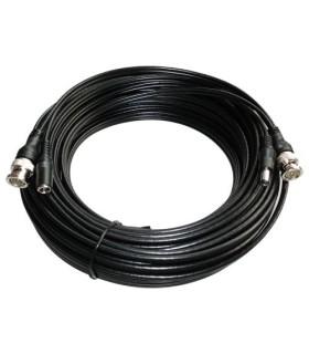 Extensão de cabo coaxial com alimentação 10 metros