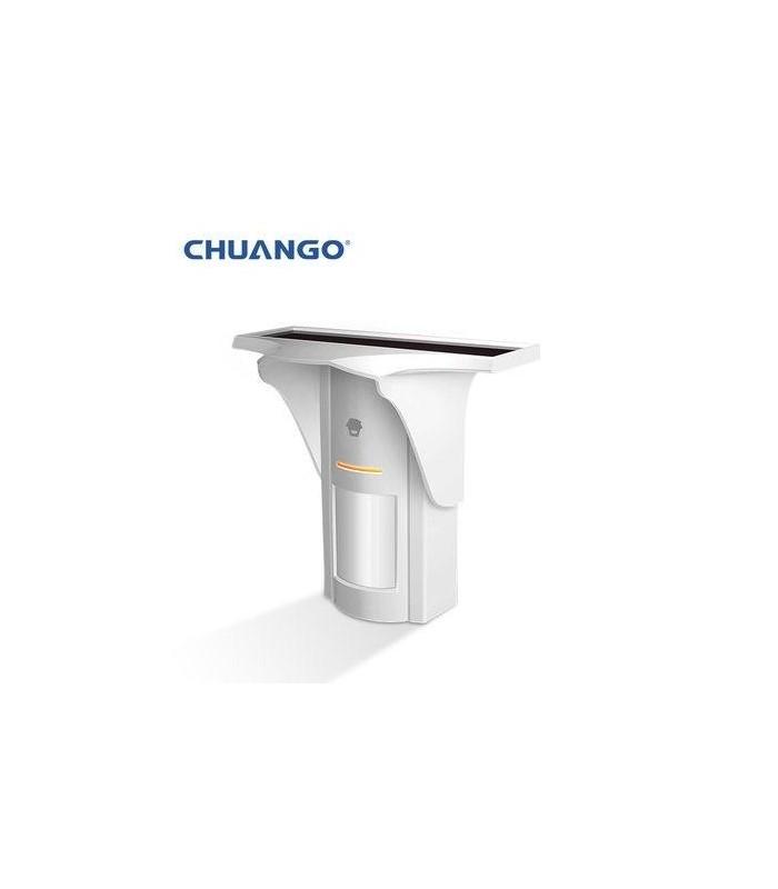 Chuango Détecteur de mouvement extérieur sans fil avec panneau solaire