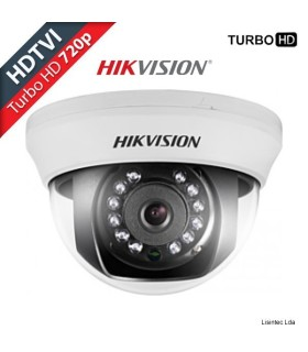 Camera Dome HDTVI Hikvision HD 720p para interior